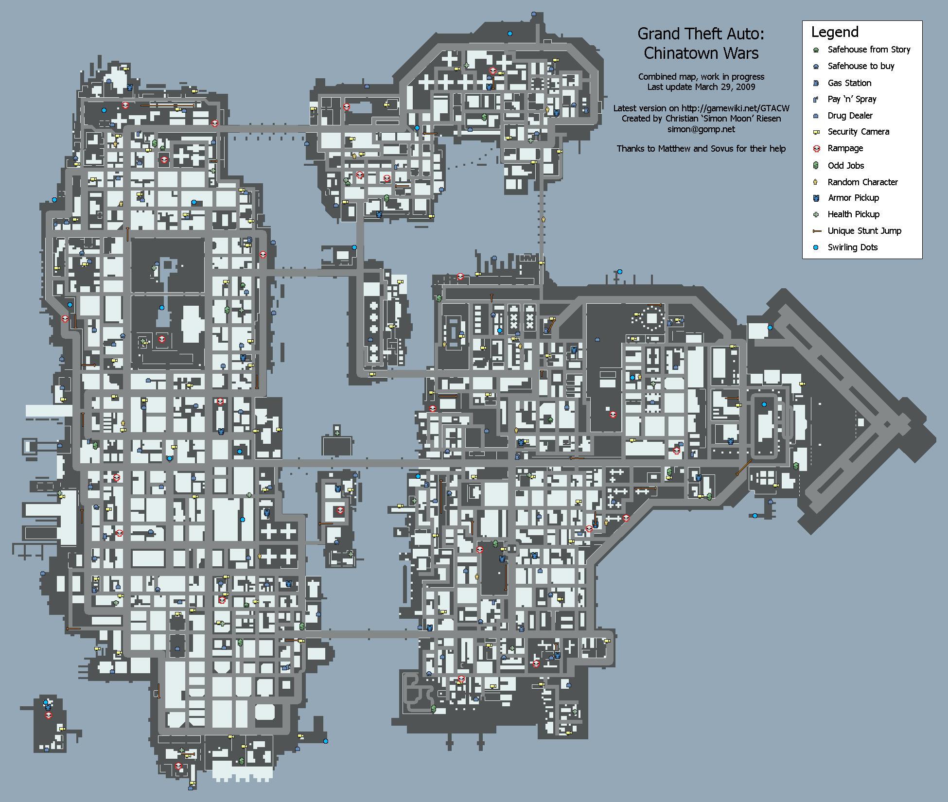Карты GTA Chinatown Wars