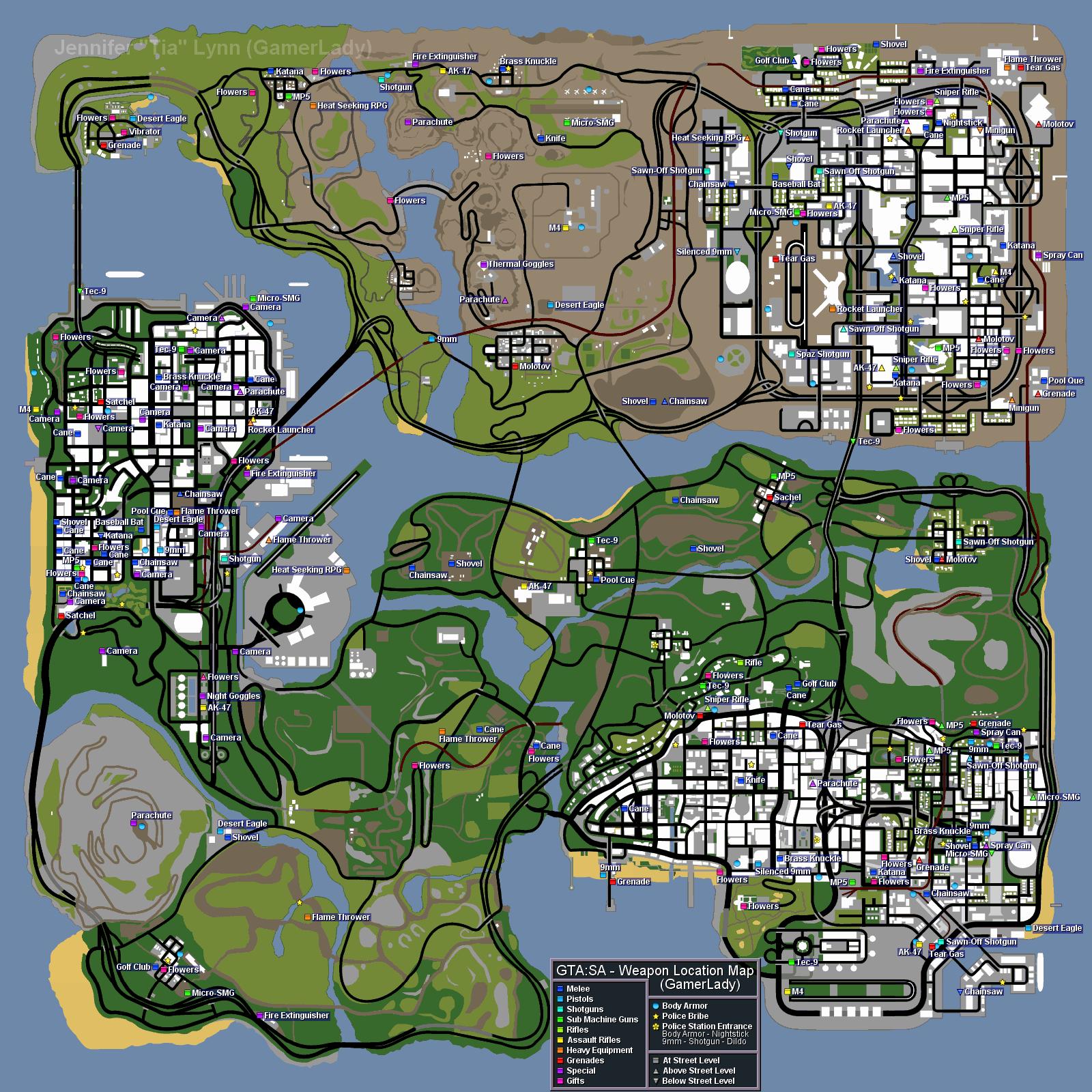 Карта букмекерских са контор гта