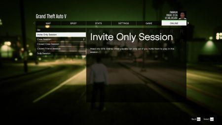 Как остаться одному в сессии GTA Online?
