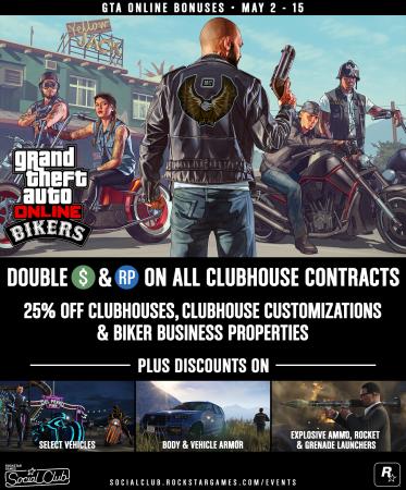 Эта неделя в GTA Online: бонусы и скидки с 2 по 15 мая