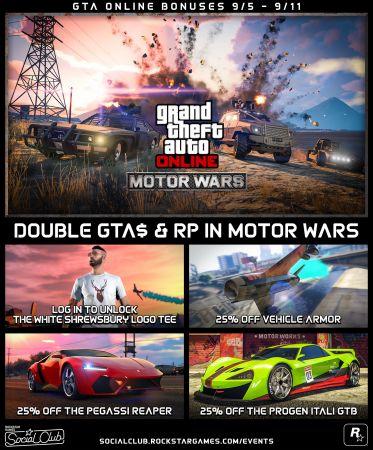 В GTA Online началась новая неделя, доступны скидки и бонусы