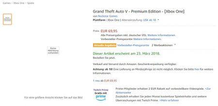 На Amazon Germany появилась информация о GTA V Premium Edtition