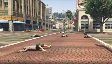 Арт-инсталляция против вооружённого насилия в США в GTA 5