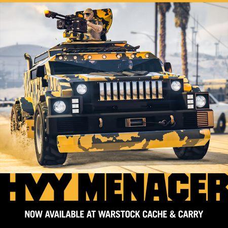 В GTA Online появился новый транспорт с оружием - HVY MENACER