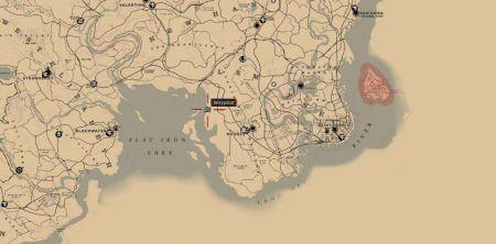Карта могил спутников в Red Dead Redemption 2