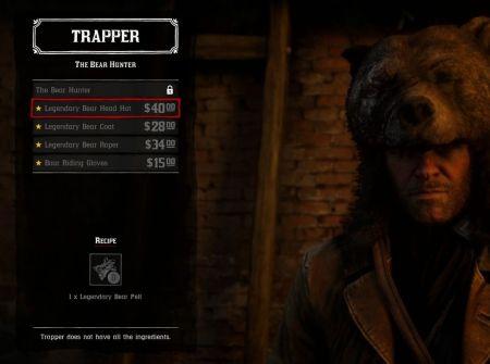 Где найти охотников (Trapper) в Red Dead Redemption 2 для крафта из легендарных шкур