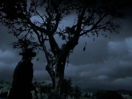 Где в Red Dead Redemption 2 найти дерево с виски и как забрать с него золото