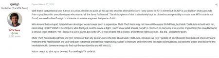 Глава разработки MTA хотел убить автора SA-MP
