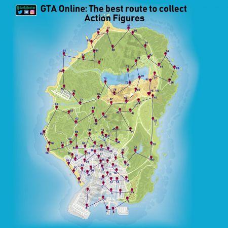 Как собрать 100 коллекционных фигурок в GTA Online — карта