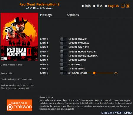 Для Red Dead Redemption 2 вышел ScriptHook и первые трейнеры