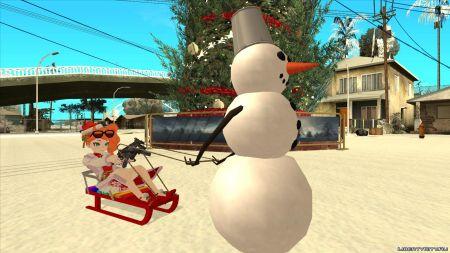 Собака Баскервилей, снеговик с санками и снегоход, рабочие автомойки и другие авторские моды недели на LibertyCity