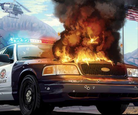 Известный инсайдер опубликовал уникальный арт по GTA 5, который мог использоваться для сюжетного дополнения