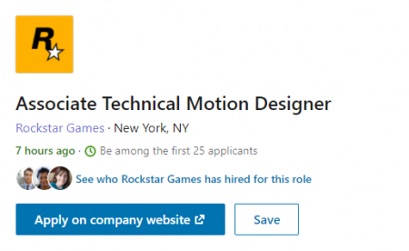 Rockstar Games ищет моушн-дизайнера для работы над трейлером нового проекта