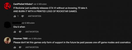 На YouTube банят комментарии о GTA 6
