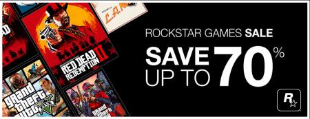 В Steam скидки до 70% на игры Rockstar Games