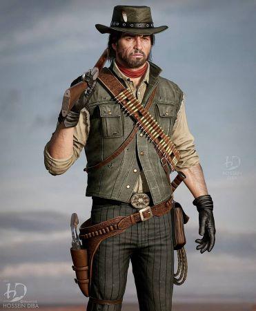 Художник создал высококачественные 3D-модели героев Red Dead Redemption