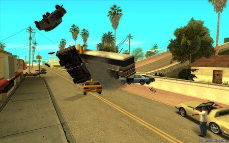 Стрельба машинами в GTA San Andreas — вышел один из самых веселых модов для игры