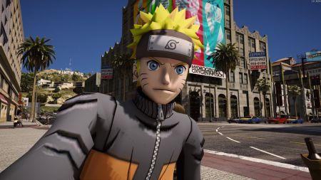 Показан геймплей мода Наруто для GTA 5