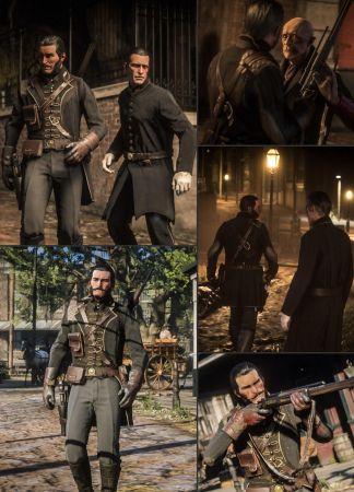"""Тор, Оби-Ван Кеноби и Дуэйн """"Скала"""" Джонсон — косплеи в редакторе Red Dead Online"""