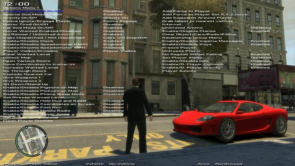 ������� ������� Native Trainer 6.2 ��� GTA 4