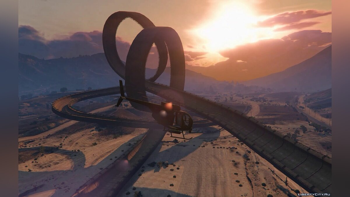 Новый объект Double-Loop Racing Court для GTA 5