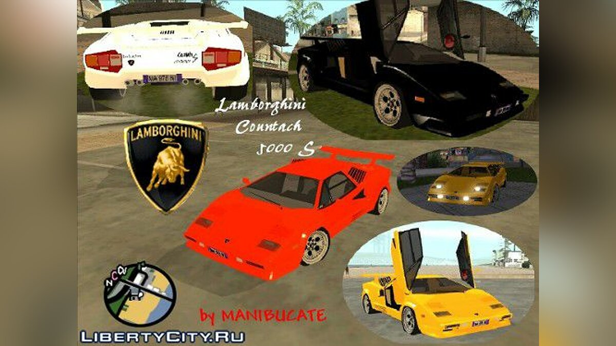 lamborghini countach 5000s gta san andreas. Black Bedroom Furniture Sets. Home Design Ideas