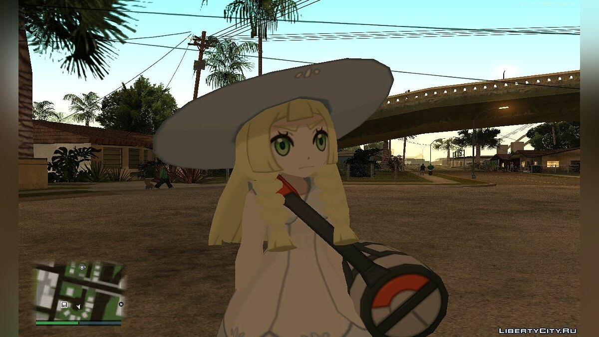 Новый персонаж Lillie - Pokémon Sun/Moon для GTA San Andreas