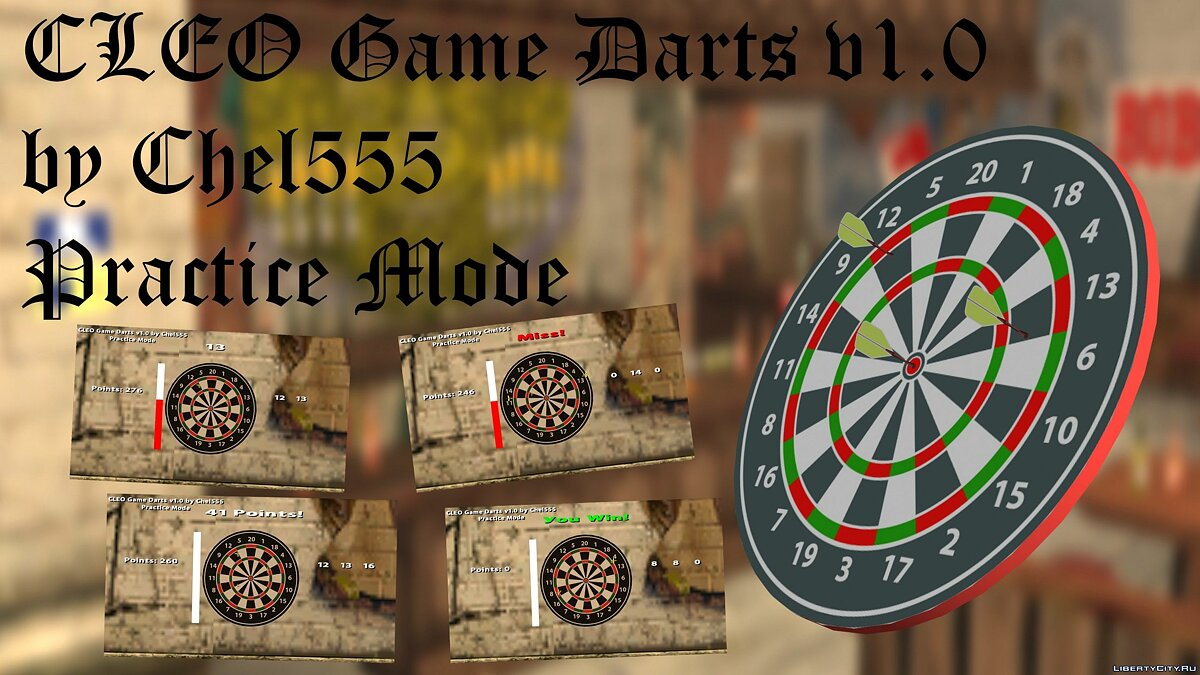 CLEO ������ Cleo Game Darts v1.0 ��� GTA San Andreas