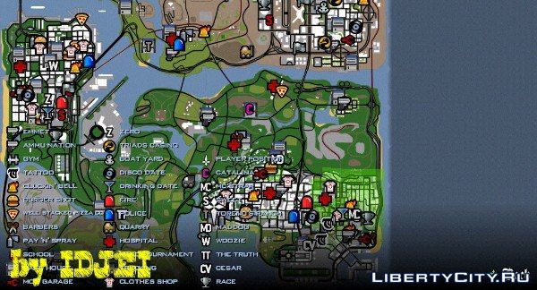 Gta Sa Map Icons - softmoreium